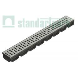 Odwodnienie liniowe 8050 z rusztem ze stali ocynkowanej DN100 Standartpark