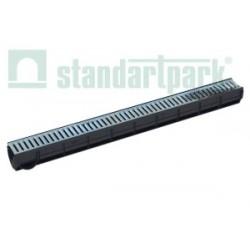 Odwodnienie liniowe 8010 z rusztem ze stali ocynkowanej DN100 Standartpark