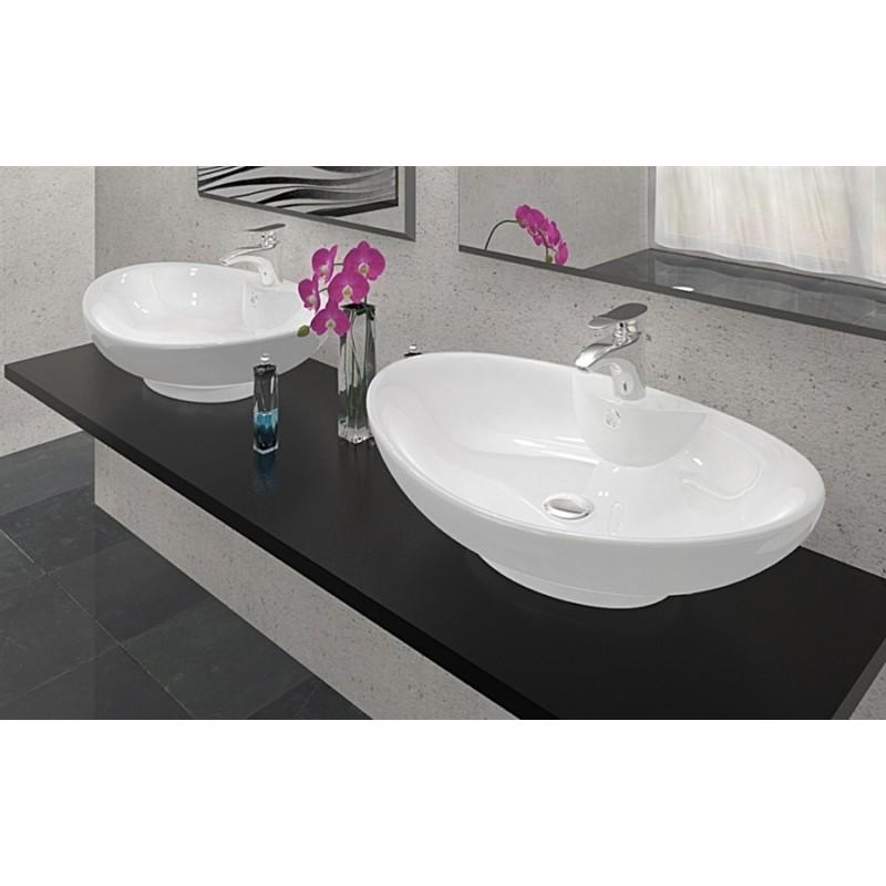 Umywalka ceramiczna 60x40 rosa 2 nablatowa rea for Arredo bagno ostia