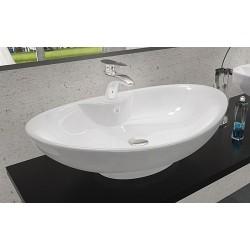 Umywalka ceramiczna 60x40 Rosa 2 nablatowa Rea