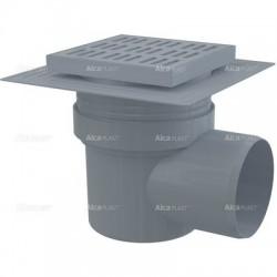 Kratka ściekowa 150x150/110 z tworzywa sztucznego, odpływ boczny APV10 Alcaplast
