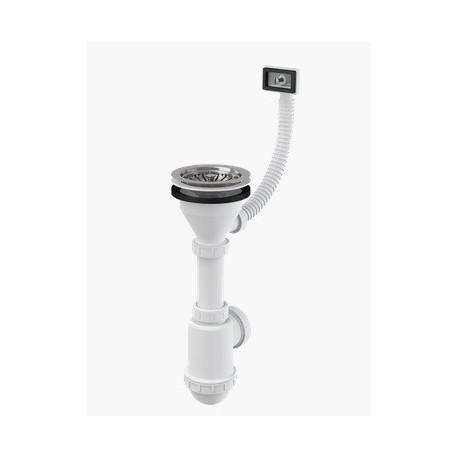 Syfon zlewozmywaka z przelewem, sitko nierdzewne ⌀115 A447-DN50/40 Alcaplast