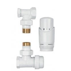 Komplet termostatyczny kątowy biały CD-77-K15 Invena