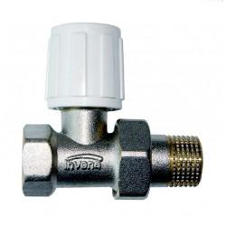 Zawór grzejniowy prosty ze śrubunkiem do rur stalowych CZ-50-P15-W Invena