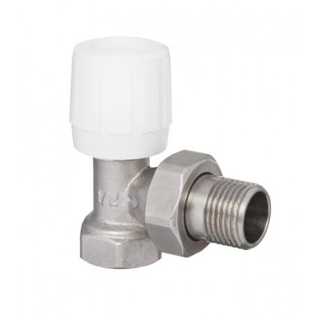 Zawór grzejnikowy prosty ze śrubunkiem do rur stalowych CZ-50-K15-W Invena