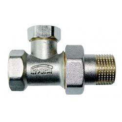 Zawór grzejnikowy prosty powrotny ze śrubunkiem do rur stalowych CZ-51-P15-W Invena