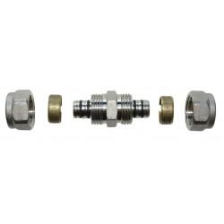 Dwuzłączka do rur PEX 16x16 PA-02-002 Invena