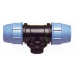 """Trójnik z odgałęzieniem nyplowym (PE-metal) 32x5/4""""x32 PE-11-432 UNIDELTA"""