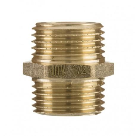 """Nypel mosiężny 3/8"""" ZM-03-010 Invena"""