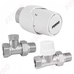 Komplet głowic termostatycznych prostych 1/2 ZTM20 Ferro