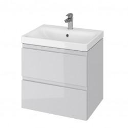 Szafka wisząca z umywalką 60 cm szara S801-222 Moduo Cersanit