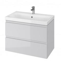 Szafka wisząca z umywalką 80 cm szara S801-220 Moduo Cersanit