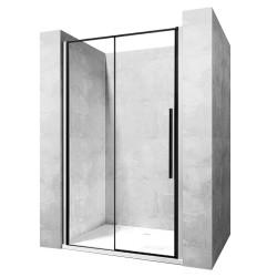 Drzwi prysznicowe przesuwane 90x195 Solar Black Rea